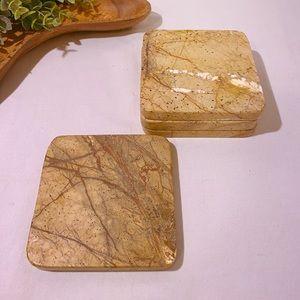 Marble stone coasters